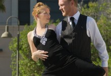 Erik Fleming and Lacie Forde Dancing to Live Music by the Fain-Mantega Duo